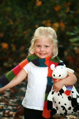 Ellie_with_knitted_scarf_lily_cow1