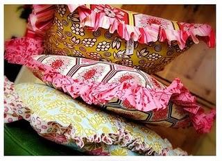 Ruffled-pillows