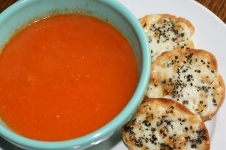Tomato-soup-with-cheese-toast
